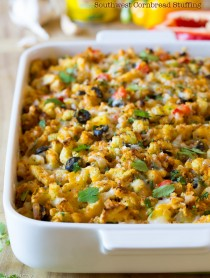 Southwest Cornbread Stuffing #holiday #thanksgiving #mexican