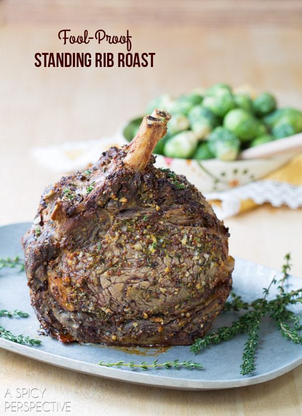 Standing Rib Roast Recipe #holiday #roast #beef #christmas #dinnerparty