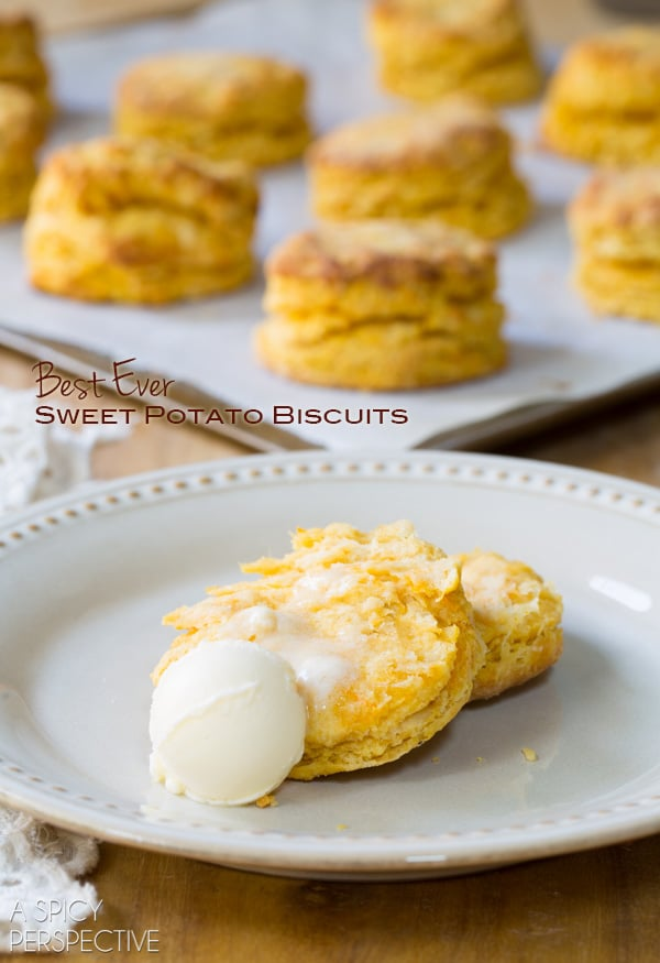 These Sweet Potato Biscuits come out of the oven piping-hot, smelling ...