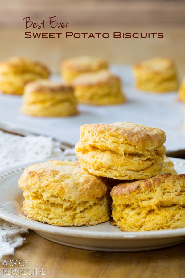 Best Sweet Potato Biscuits! Light Flaky and Moist. #biscuits #sweetpotato #holiday #thanksgiving