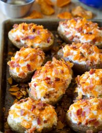 Spicy Mesquite Twice Baked Potatoes #potato #holiday #sidedish #bakedpotato