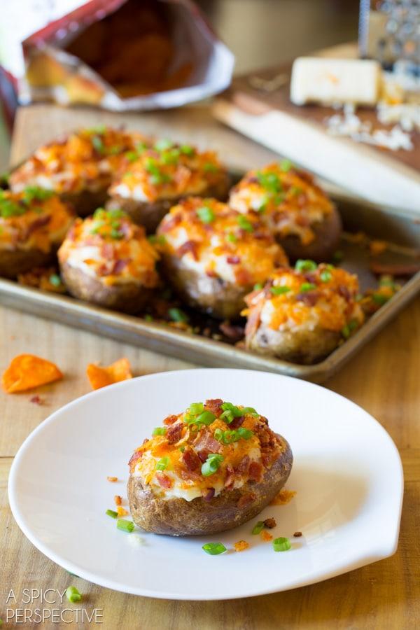 Perfect Twice Baked Potatoes #potato #holiday #sidedish #bakedpotato