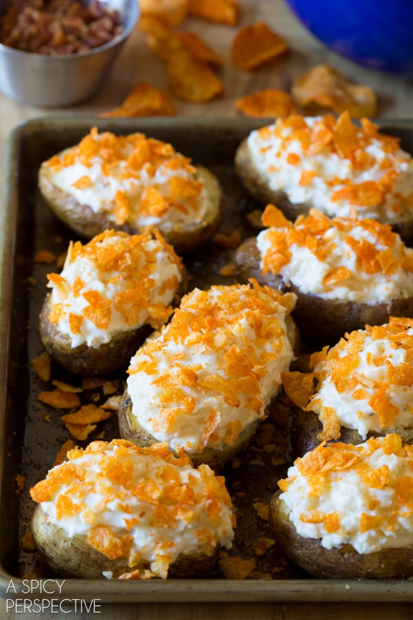 The Best Spicy Mesquite Twice Baked Potatoes #potato #holiday #sidedish #bakedpotato