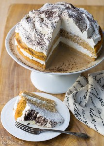 Easy Affogato Cake - Silky luxurious cake with espresso cream! #holiday #espresso #cake