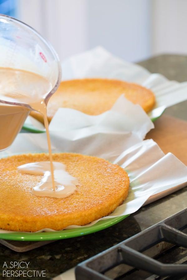 How to Make Affogato Cake - Silky luxurious cake with espresso cream! #holiday #espresso #cake