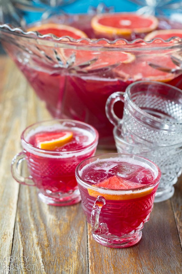 New Years Eve Champagne Punch #newyear #punch