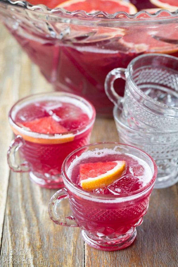 Grapefruit Sparkling Champagne Punch
