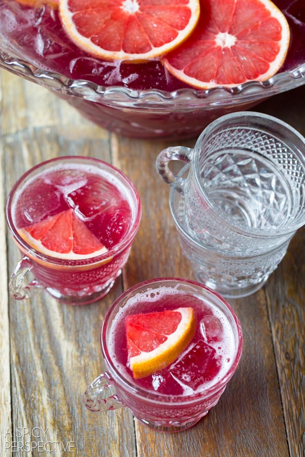 Grapefruit Champagne Punch
