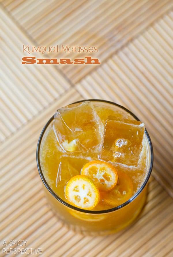 Love this Kumquat Molasses Smash #Cocktail