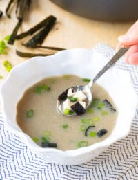 5-Ingredient Miso Soup Recipe in 5 Minutes! #ASpicyPerspective #healthy #vegan #vegetarian #miso #soup