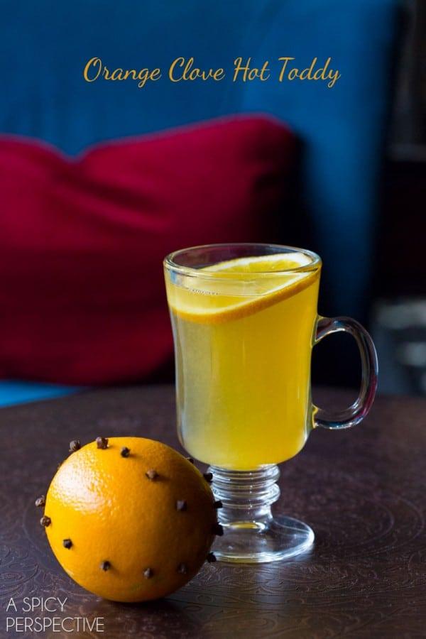 Orange Clove Hot Toddy #cocktail