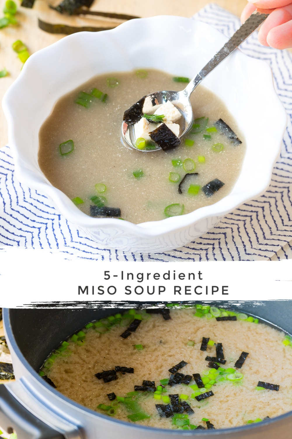Classic Miso Soup Recipe in 5 Minutes! #ASpicyPerspective #healthy #vegan #vegetarian #miso #soup
