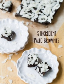 5 Ingredient Paleo Brownies #paleo #raw #glutenfree #vegan