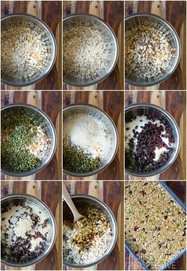 Making Healthy Homemade Granola Bars - A copycat version of Whole Foods Granola Bars! #healthy