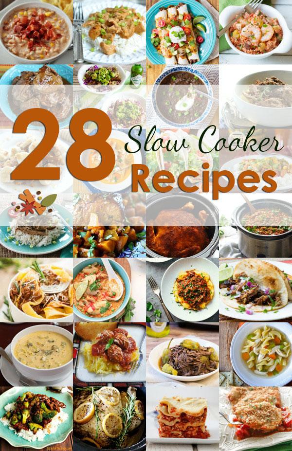 28 Slow Cooker Recipes #slowcooker #crockpot