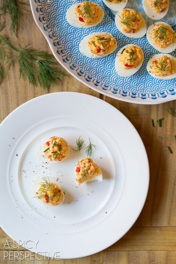 My Favorite Pimento Cheese Deviled Eggs