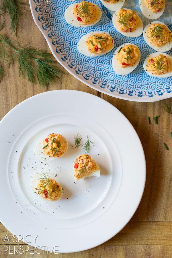 My Favorite Pimento Cheese Deviled Eggs