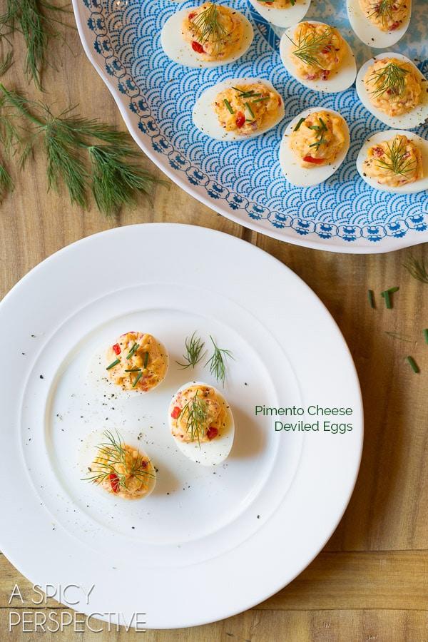Zesty Pimento Cheese Deviled Eggs
