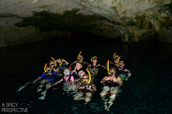 Snorkel in Cenotes - Things To Do In Playa Del Carmen Mexico #travel #mexico