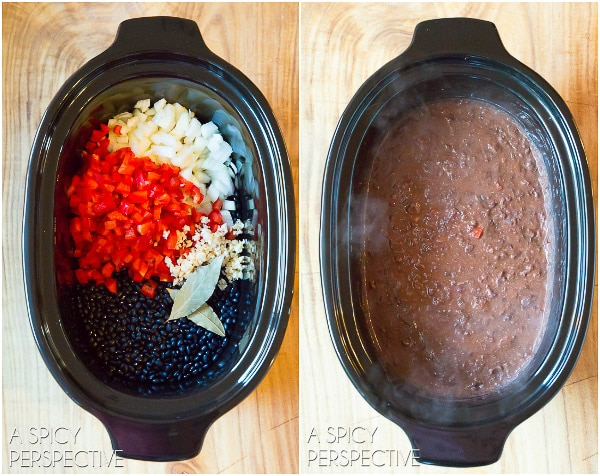 Easy Slow Cooker Black Bean Soup Recipe