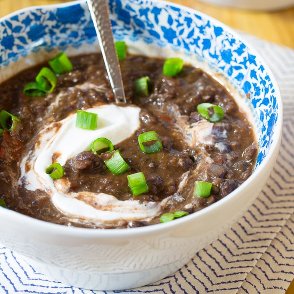 Slow Cooker Black Bean Soup Recipe A Spicy Perspective