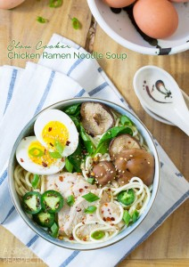 Slow Cooker Chicken Ramen Noodles Recipe #slowcooker #crockpot