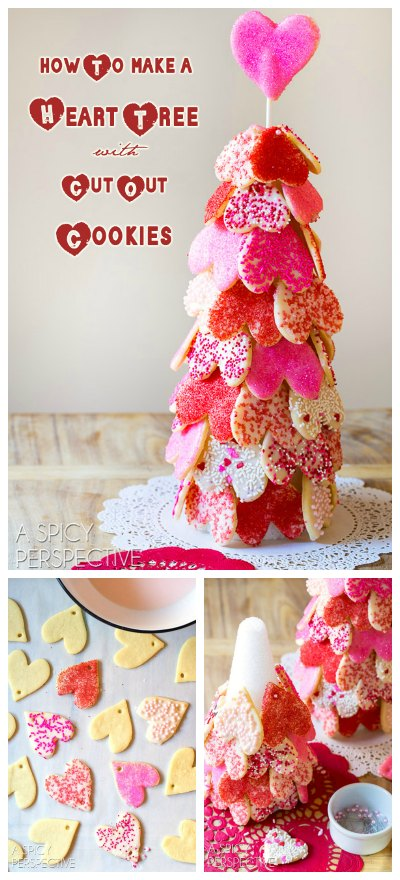 Heart Tree Cut Out Cookie Recipe for Valentines Day!