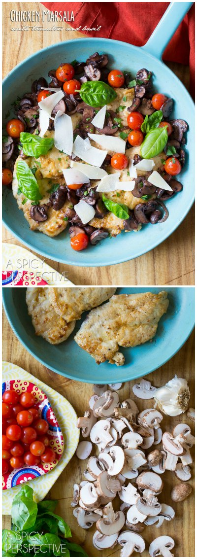 Chicken marsala recipe with tomatoes and basil light and healthy chicken marsala recipe with blistered tomatoes and basil forumfinder Image collections