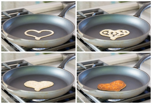 Valentine Pancake Art