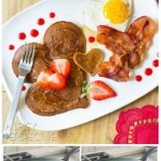 Making Valentine's Day breakfast with Strawberry Heart Pancakes ( Pancake Art!)