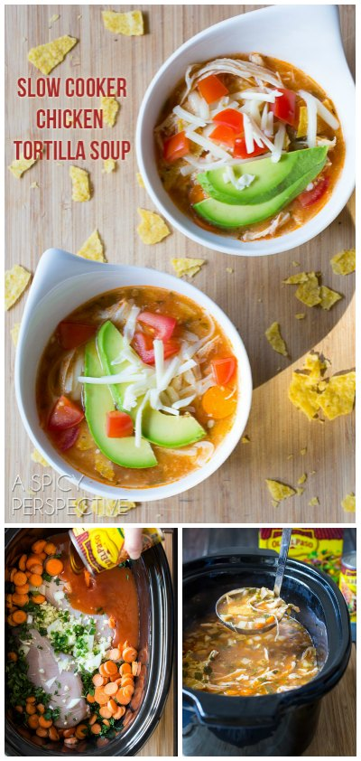 Amazing Slow Cooker Chicken Tortilla Soup!