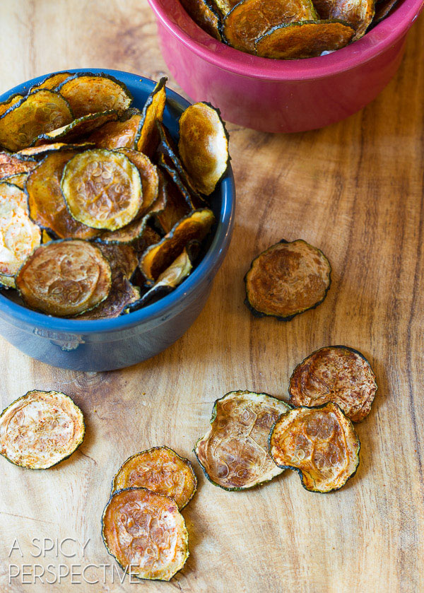 Baked Zucchini Chips #healthy