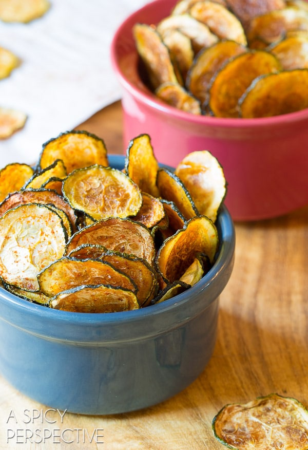 Baked Zucchini Chips can be stored in a zip bag or airtight container ...