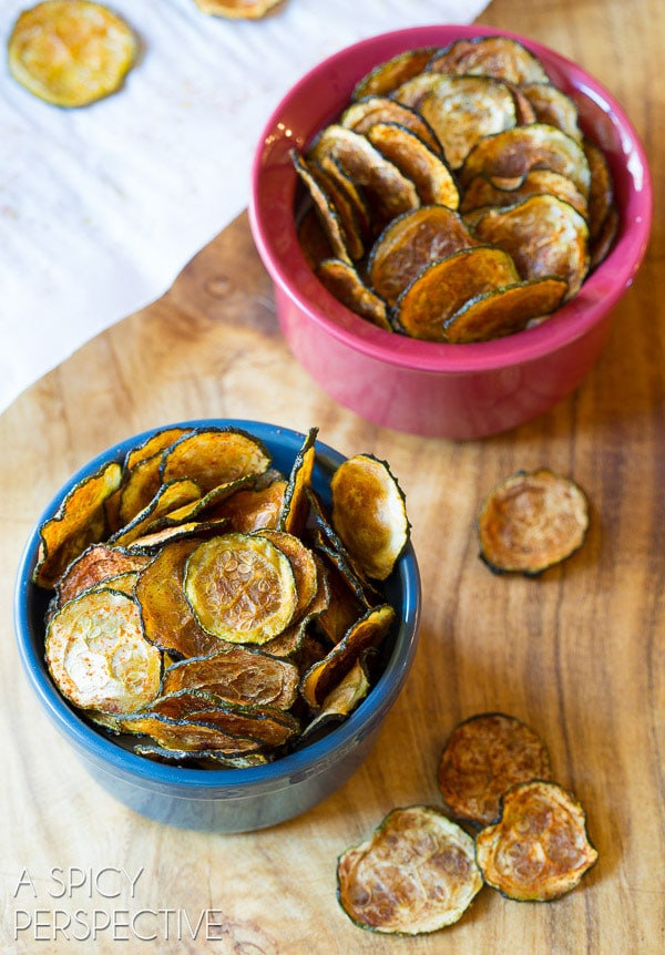 Awesome Crispy Baked Zucchini Chips #paleo
