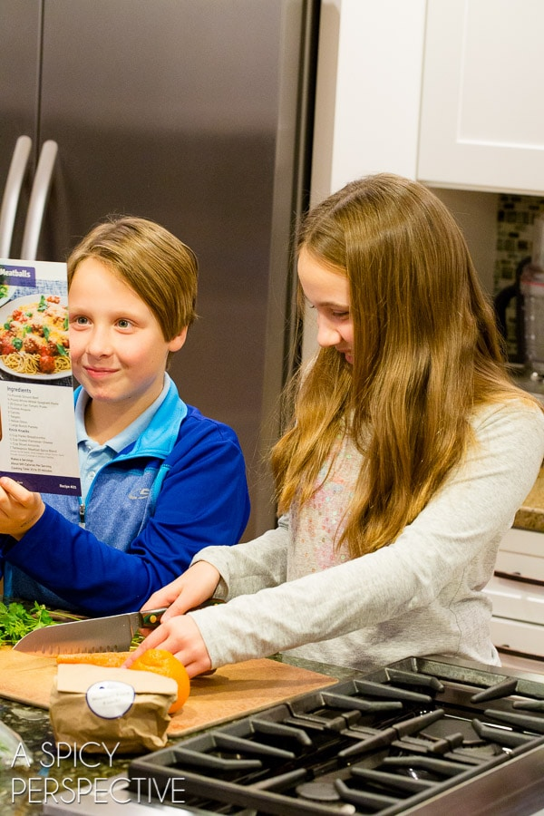 Kid-Made Dinner with Blue Apron