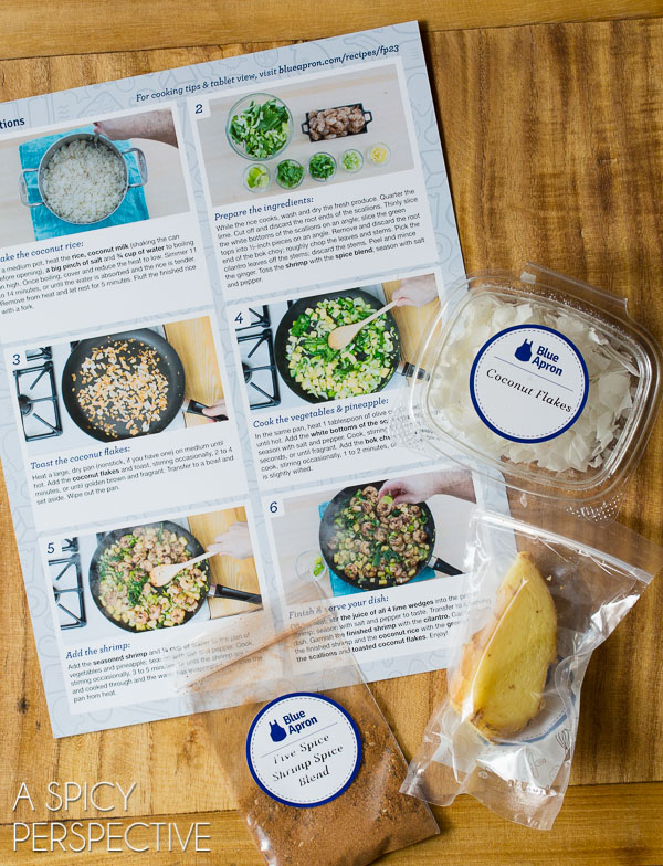 Cooking Dinners with Blue Apron - Chinese Five Spice Shrimp