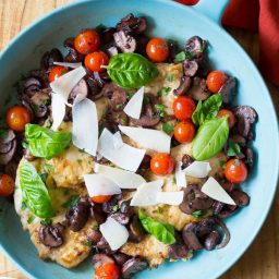 Healthy Chicken Marsala Recipe with Tomatoes and Basil