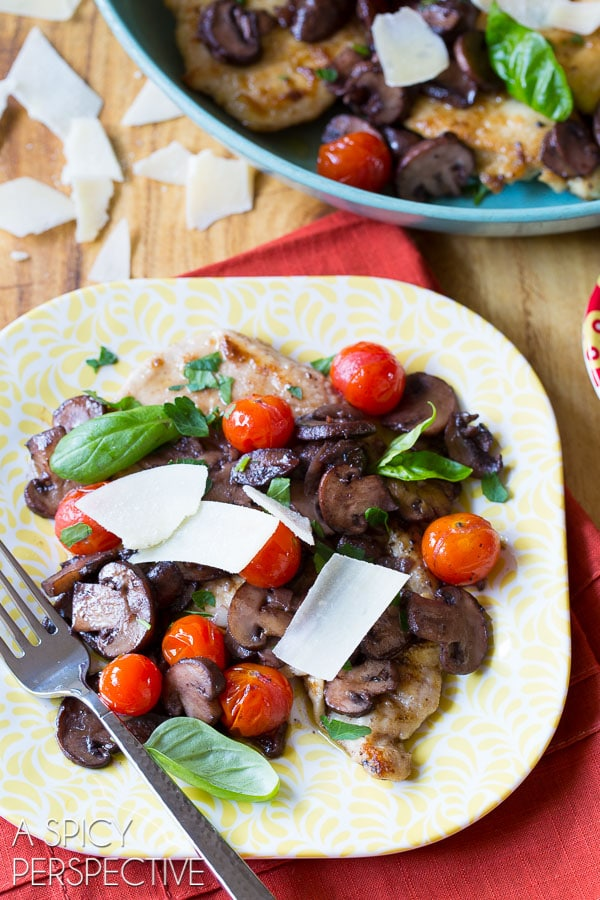 Chicken Marsala Recipe With Tomatoes And Basil