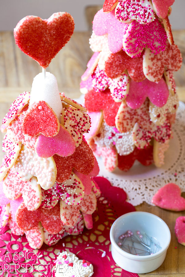 Must Make - Heart Tree with our Cut Out Cookie Recipe on ASpicyPerspective.com