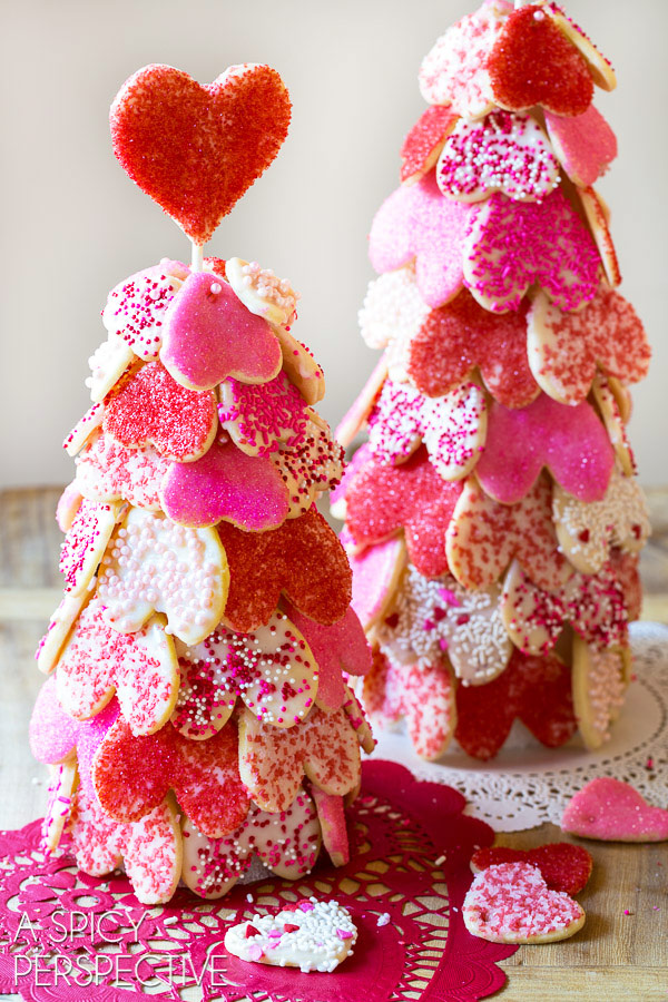 Make a Heart Tree with our Cut Out Cookie Recipe on ASpicyPerspective.com