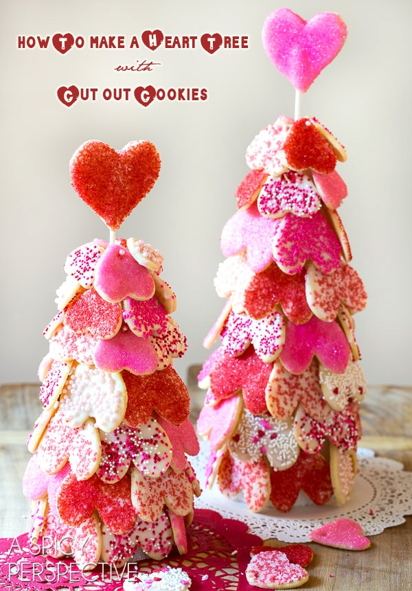 How to Make a Heart Tree with our Cut Out Cookie Recipe on ASpicyPerspective.com