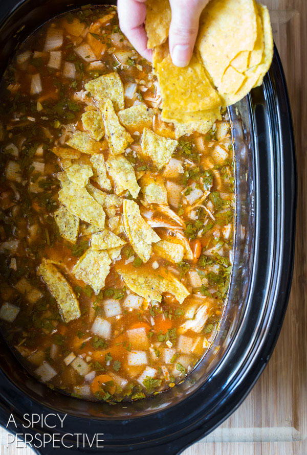 How to Make Amazing Slow Cooker Chicken Tortilla Soup