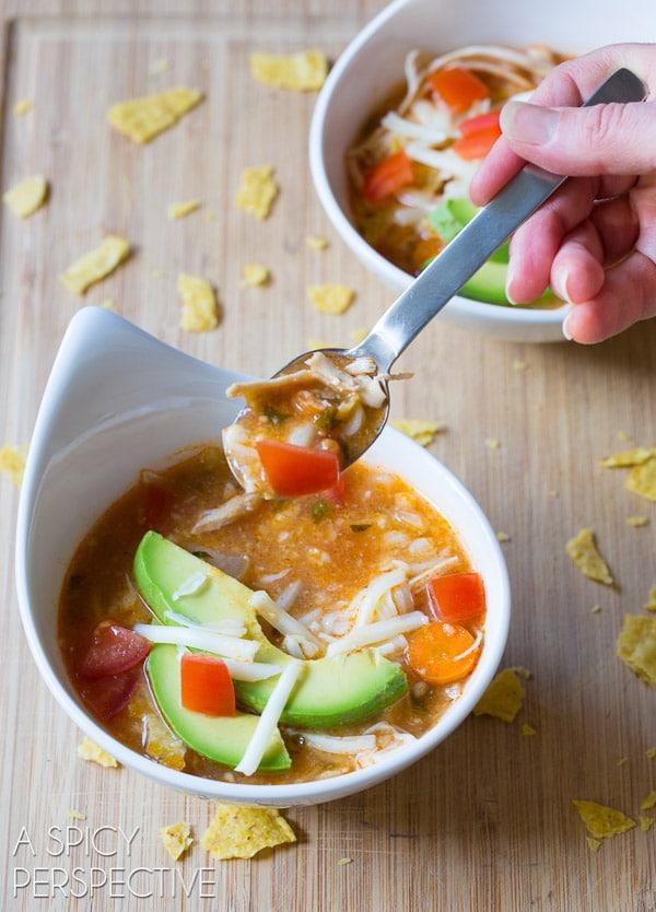 Best Slow Cooker Chicken Tortilla Soup Recipe