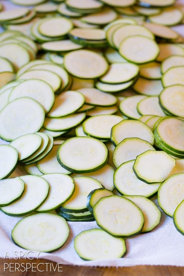 Making Zucchini Chips