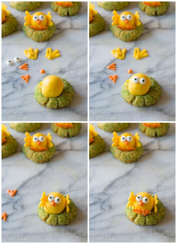 How to Make White Chocolate Citrus Chick Cookies (with a truffle in the middle!)