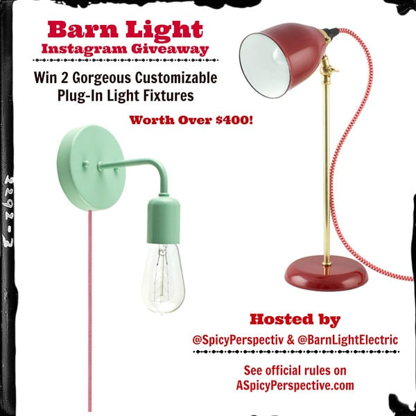 Barn Light Electric Giveaway on Instagram! See details to enter. #giveaway