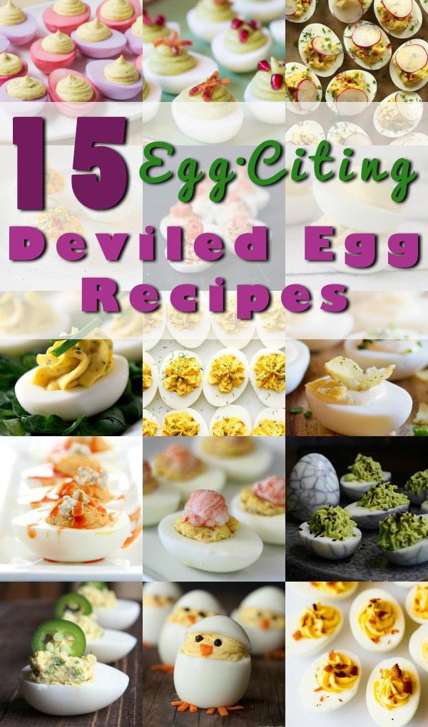 The BEST 15 Deviled Egg Recipes for Spring! #deviledeggs #easter #spring