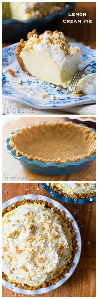got a light fluffy Lemon Cream Pie Recipe for you today! A lemon pie ...