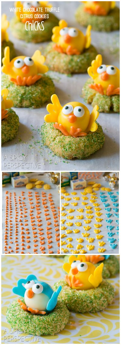 White Chocolate Citrus Chick Cookies
