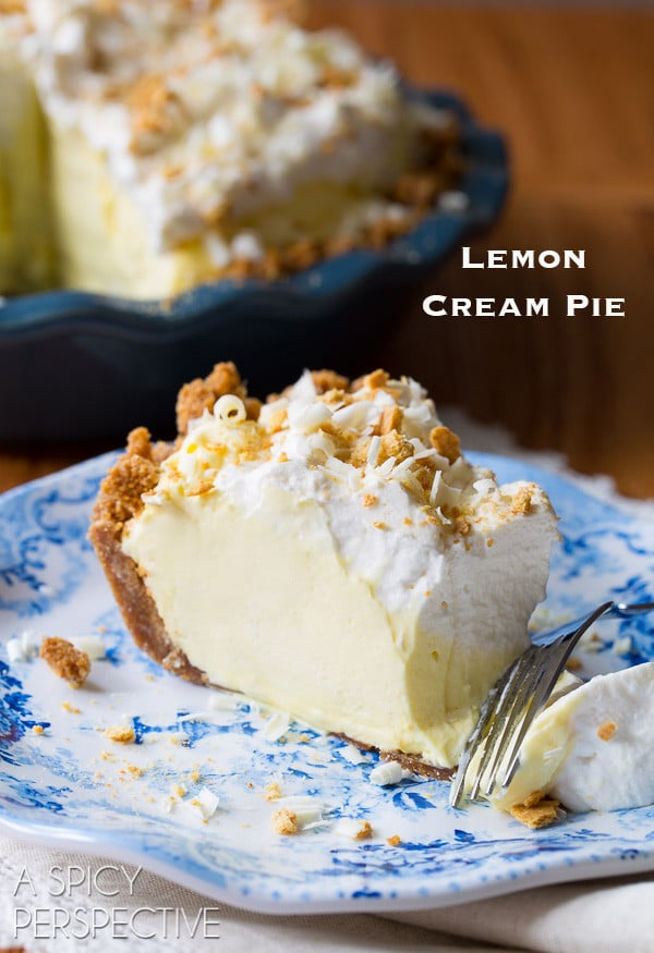 The Best Ever Lemon Cream Pie Recipe with Graham Cracker Crust on ...